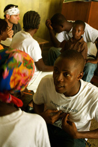 Pregnant women wait to consult with Nurse Rachel during our July 2010 Medical Mission in Morency