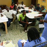 Hope for Haiti Public Health Nurses Train Community Health Workers.