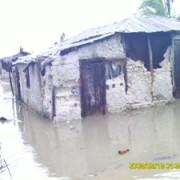 Housing under water.