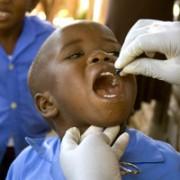 Pre-School student at Pereno takes Vitamin A booster
