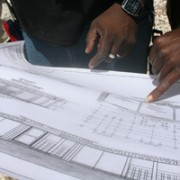 Construction plans for the new school in Platon, drawn by Clerge Gary of buildOn