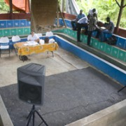 The event space in Aquin, not far from the nursery supported by Hope for Haiti