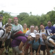 Hope for Haiti and University of Scranton pose for a picture on the trail to Tiami
