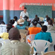 HFH Program Director Patrick Eucalitto speaking to Community Health Workers
