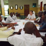 Program Assistant, Paula Prince, leading one of the focus groups