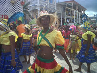 Women dressed in beautiful bright colors made the parade a smashing success.