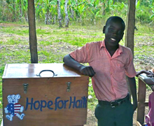 Ricardo with the Hope for Haiti First aid kit