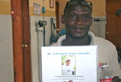 Janvier with his certificate of three years of service