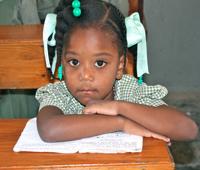 Primary school student.