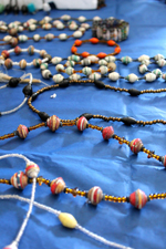 Some of the necklaces the students created
