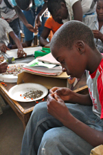 Student works on a necklace