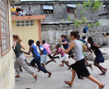 Games at Les Cayes Orphanage.