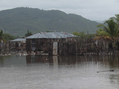 Many houses were flooded in the low lying areas of Aquin.