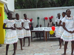 Dancing performed by a church group.