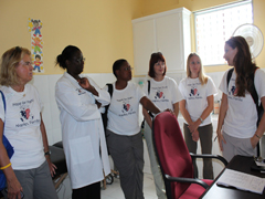 Exam Room  1 with Dr. Elmide and Hope for Haiti Staff