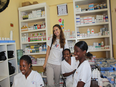 Hope for Haiti Infirmary with Jennifer Lang and Haiti staff nurses.