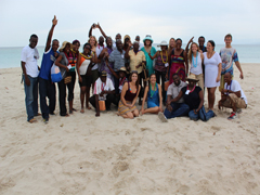 Last day spent at Port Salut beach with entire Hope for Haiti staff.