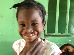 Little girl we met at the hospital in Les Cayes. We will refer her to Smile Train.