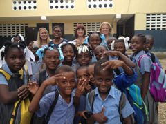 One of our favorite parts of the trip was interacting with the students.