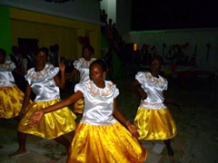 Performing the dance for the community.