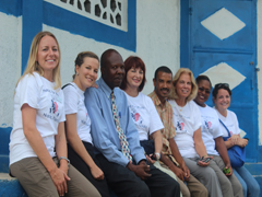 School directors Rode and Rochel with Hope for Haiti staff.