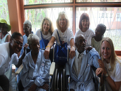 The team with paitents from a nursing home on the Infirmary's property.