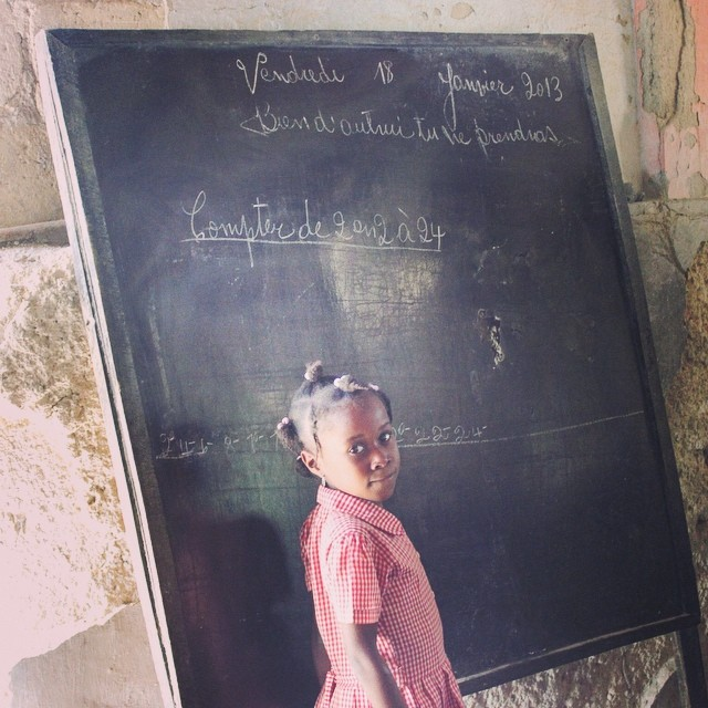 """be faithful in small things because it is in them that your strength lies."" mother teresa #hopeforhaitifl #haiti #connecthealempower #haitichildren #education"