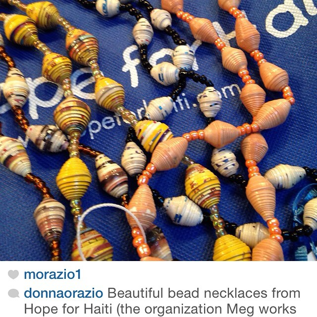 Thank you @donnaorazio for your purchase of our beautiful beaded jewelry! your purchase makes it possible for us to continue supporting female artisans in rural haiti! #hopeforhaiti #haiti #connecthealempower #haitianartist #madeinhaiti