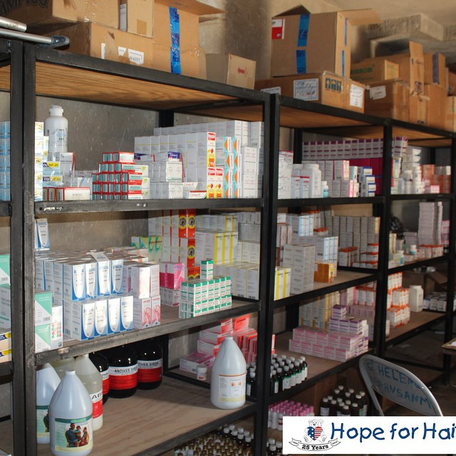 What an amazing medical #depot at one of our partner nutrition sites! #hopeforhaiti #haiti #connecthealempower #healthcare #nutrition