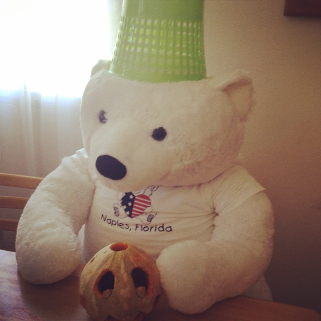 #tbt to when our mascot, mr. hope got into the #halloween spirit #hopeforhaiti #hopeforhaitifl #haiti #mrhope