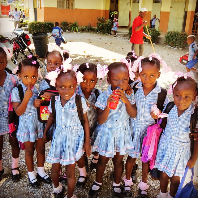 We're ready for school tomorrow! #haiti #educationrocks #hopeforhaiti