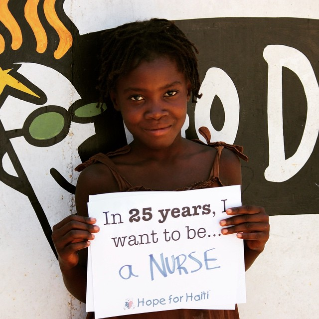 What do you want to be when you grow up?! #haiti #futurelooksgood #hopeforhaiti