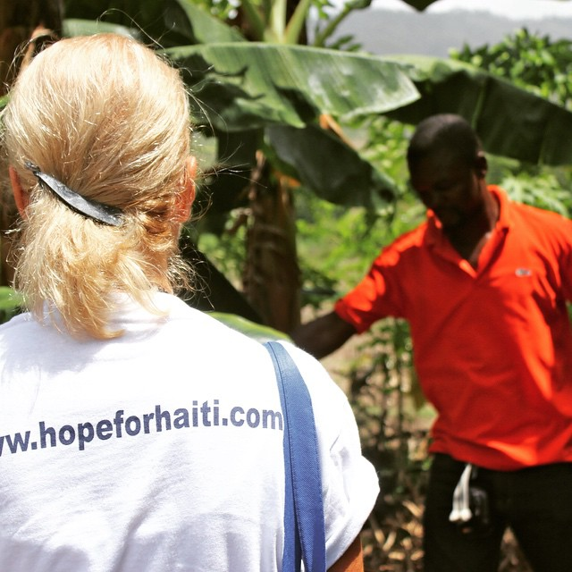 Our local field staff do an amazing job explaining to visitors what they do, why they do it, and the positive impact it has on the community. #hopeforhaiti #haiti #fromthefield