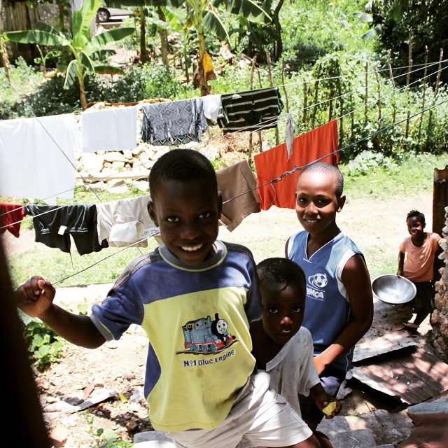 These kids were having fun watching us check out the #water system we installed in their community! #hopeforhaiti #haiti