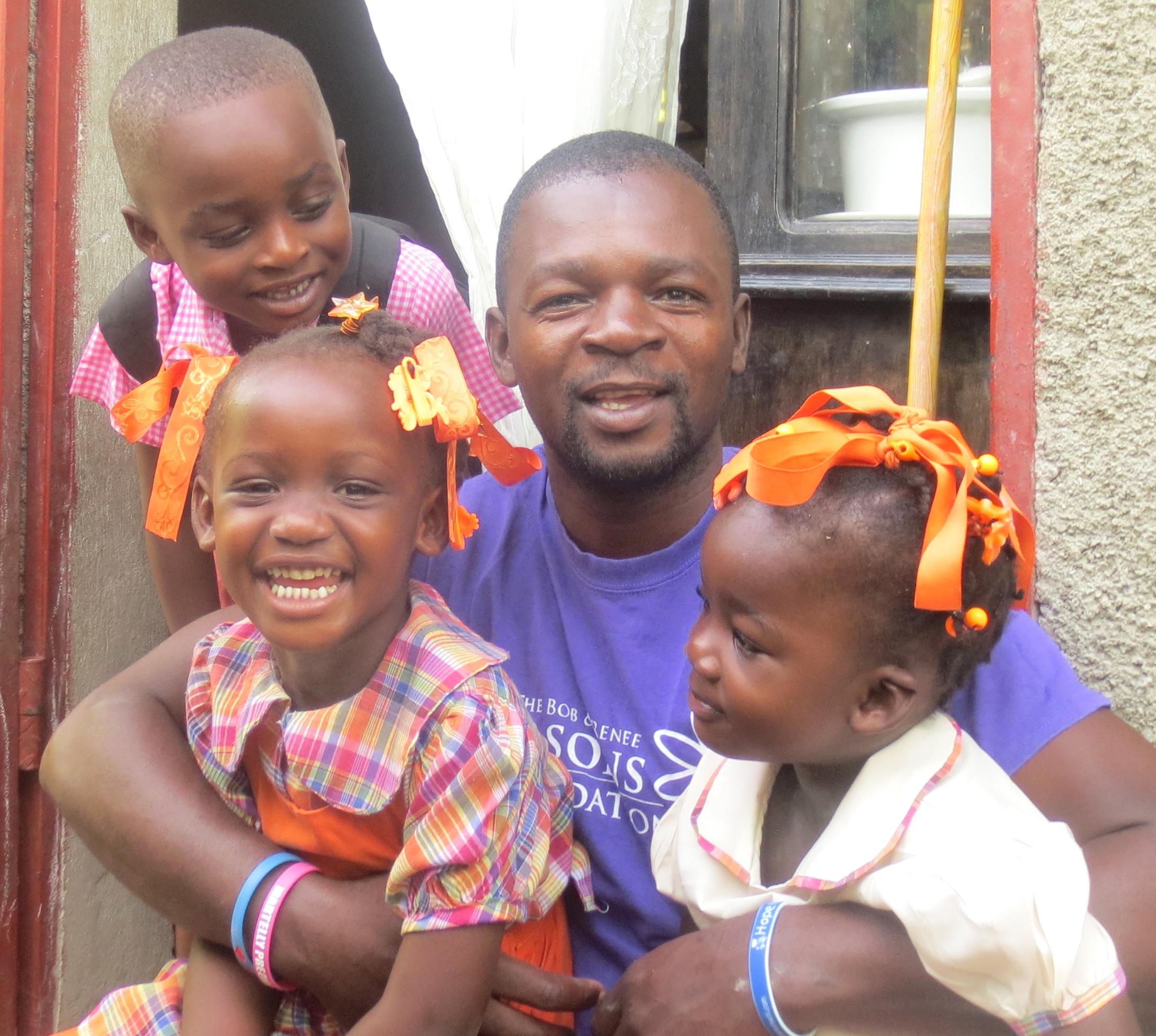 Michel and his children