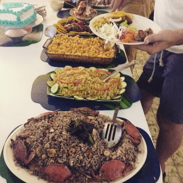 It's friday so help yourself to some delicious #haitianfood this weekend! all food here made by our cooking school manager mme carmene! #haiti #hopeforhaiti #enjoy #treatyourself