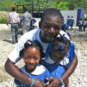 Our agronomist michel says hello to some of the students he knows!! #haiti #hopeforhaiti #agriculture