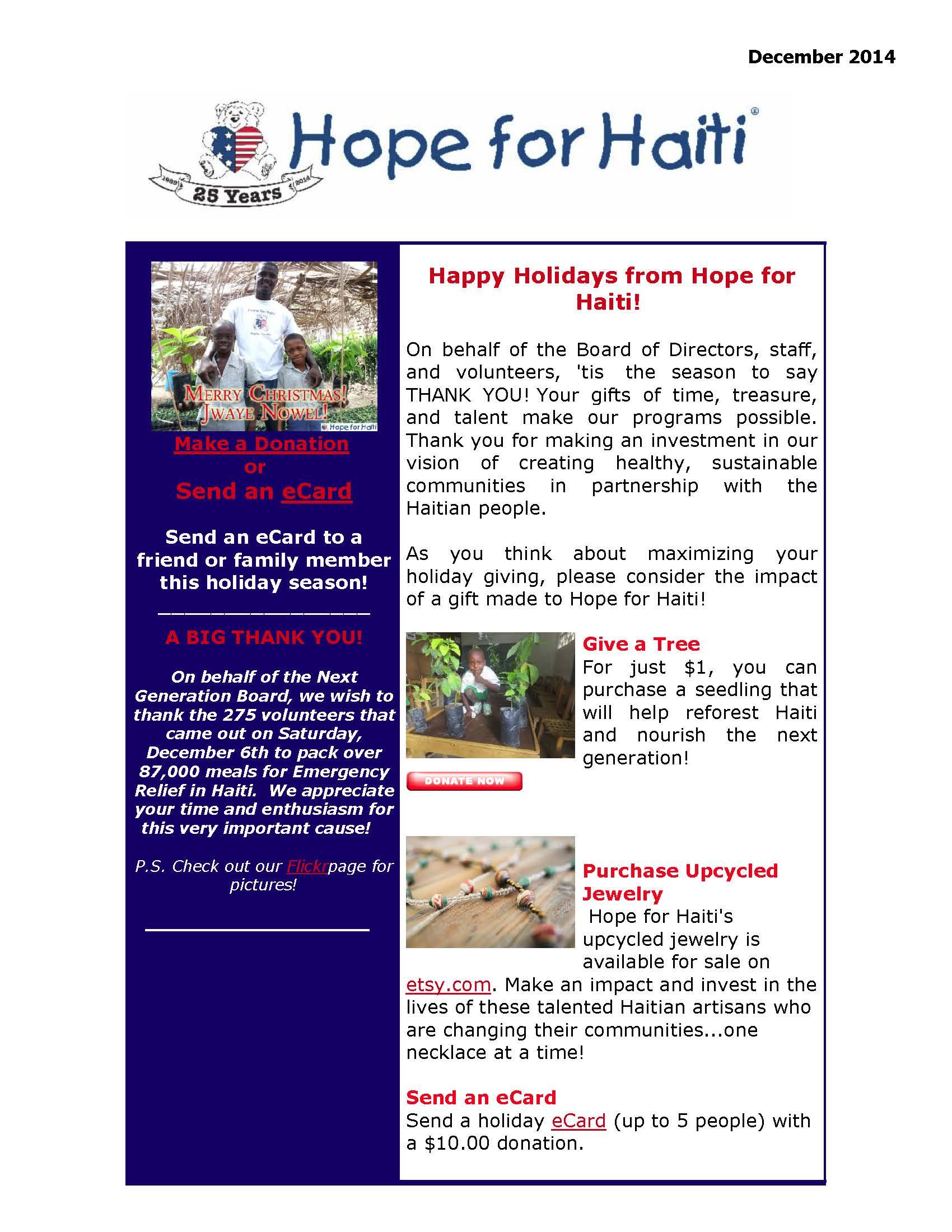 December egram 2014 page 1