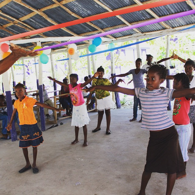 Flashback to camp last summer! #haiti #hopeforhaiti #dance #getmoving