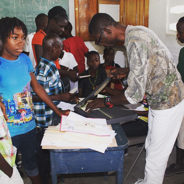 Students learning to make handicrafts at one of our schools! #haiti #hopeforhaiti #school #artsandcrafts #madeinhaiti