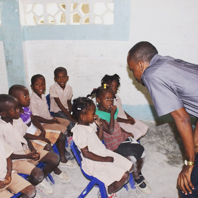 Our education program coordinator spends some time with the kids on a site visit! #haiti #hopeforhaiti #education #thefuture