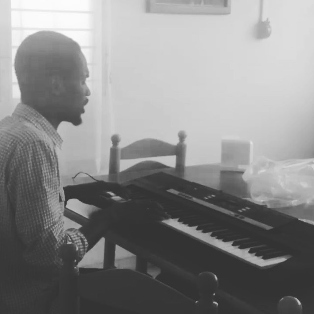 Piano camp started this week! our fantastic teacher practices a few songs while visiting the office. we can't wait to show you what the children learned! #haiti #hopeforhaiti #music