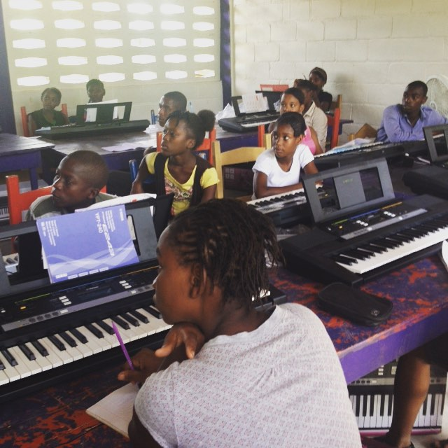 Welcome to #piano class! #haiti #hopeforhaiti #music #summer #fun