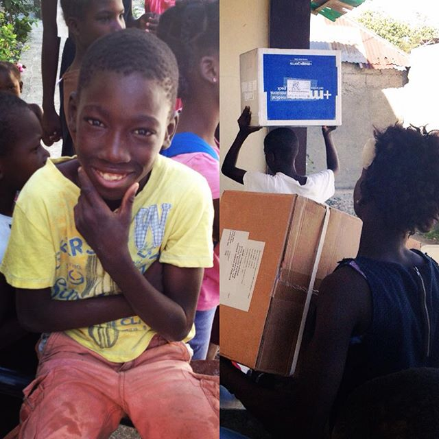 Why is this guy smiling? it might be because it's friday, or because we delivered children's multivitamins and basic medical supplies to the community center he belongs to through our gift in kind program! either way #winwin! #haiti #hopeforhaiti #friday #bluebox #mapinternational
