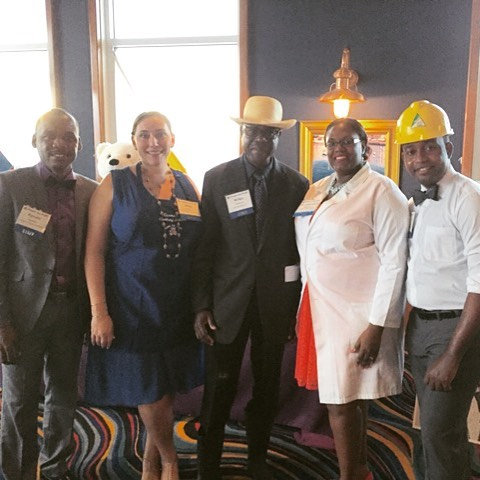 At our #hfhcelebration2016 event, five of our #haiti staff each represented one of our core programming areas to share what the programs and operations look like on the ground. can you guess who's who?! i spy #education #economy #cleanwater #healthcare & #nurtition and #infrastructure