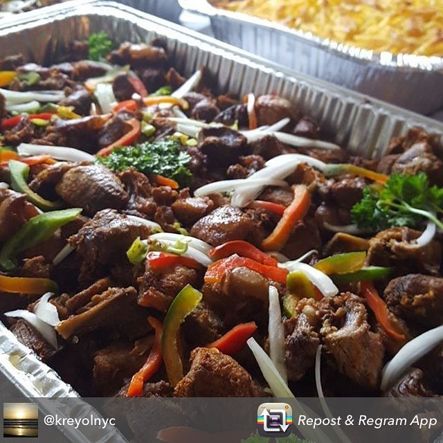 """Who loves #haitianfood? our #cooking with carmene"""" #cookbook has tons of great haitian recipes, dm for details to get your own! until then, lets enjoy this delicious pic from @kreyolnyc"""