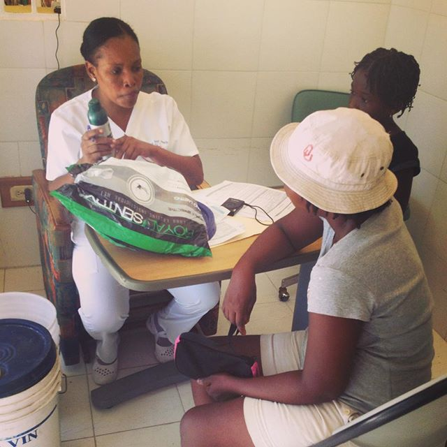 #inthefield today to observe a #zika consultation given by one of the nurses at our clinic. we've provided educational consultations and distributed #zikavirus kits to over 150 pregnant throughout southern haiti! to learn more about our response, please visit https://give.hopeforhaiti.com/pages/zika response 2016