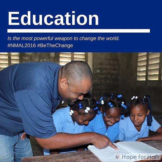 #nmal2016 #bethechange #nelsonmandela #haiti #education