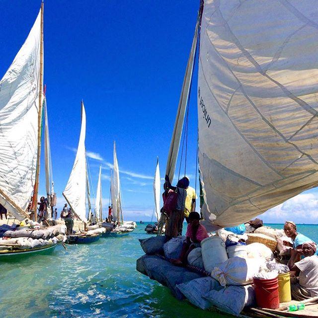 Boats headed to Île a vache for market day #haiti #hopeforhaiti #rethinkhaiti