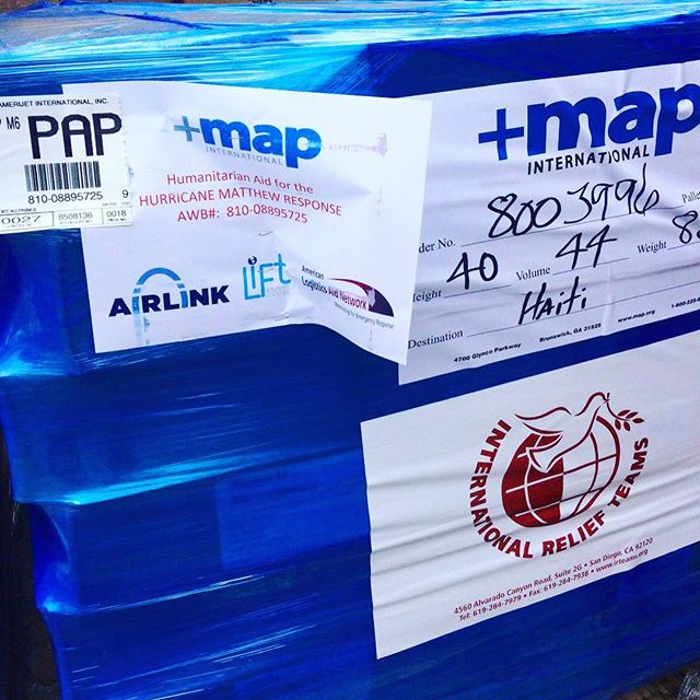 Thank you, mesi anpil @mapintl for continuing to send those #blueboxes #haiti #teamwork #hopeforhaiti